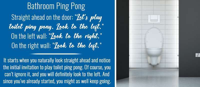 Bathroom Stall Quotes: Ping Pong