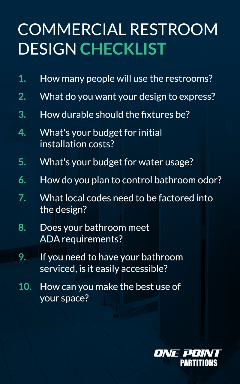 Commercial Restroom Design Checklist