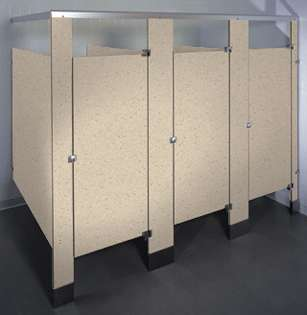 Neutral Glace Phenolic Bathroom Stalls