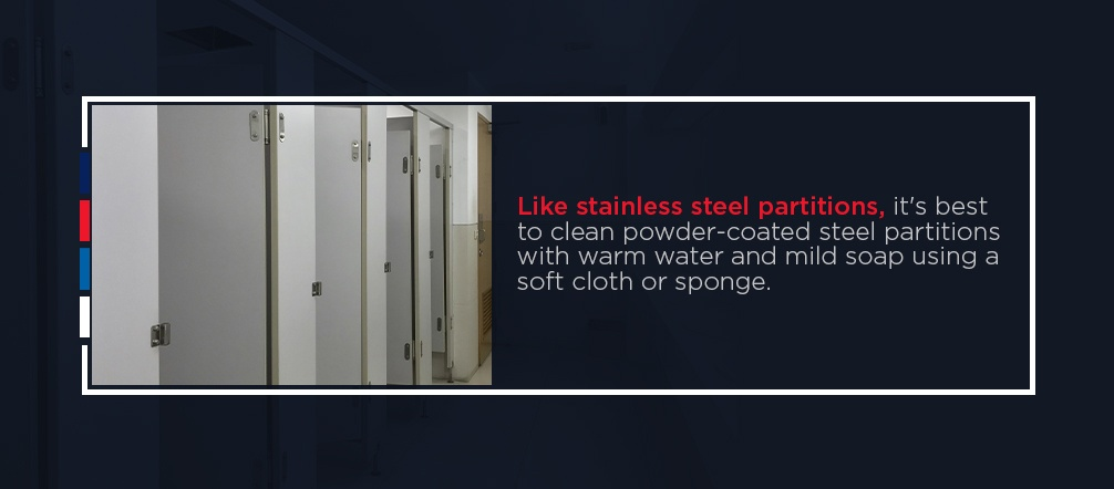How to Clean Powder-Coated Steel Bathroom Partitions