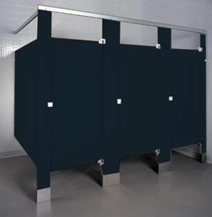 Black Phenolic Bathroom Stalls