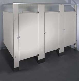 Silver Gray Phenolic Bathroom Stalls