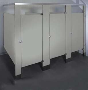 Dove Gray Bathroom Stalls