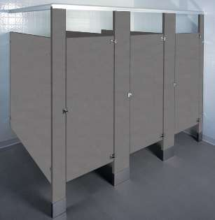 Windswept Pewter Laminate Bathroom Stalls
