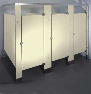 Almond Phenolic Bathroom Stalls