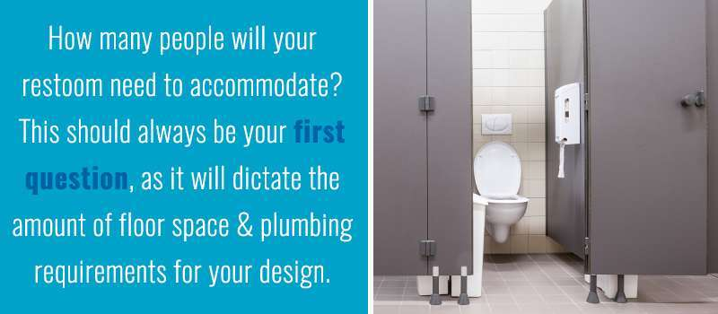 Bathroom Stalls Per Employee a guide to commercial restroom design - one point partitions