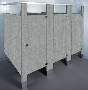 Satin Stainless Laminate Bathroom Stalls