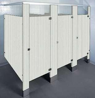 Vapor Strandz Laminate Bathroom Stalls