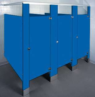 Spectrum Blue Bathroom Stalls