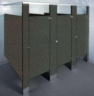 Rustic Slate Laminate Bathroom Stalls