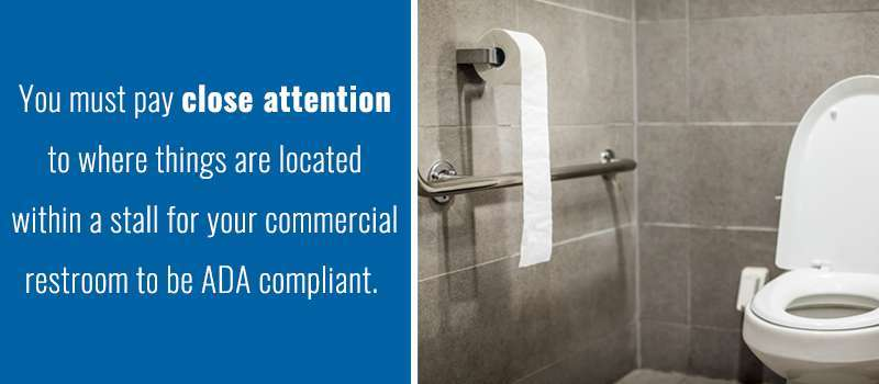 Commercial Bathroom Stall Property how do i measure for commercial toilet partitions?  one point