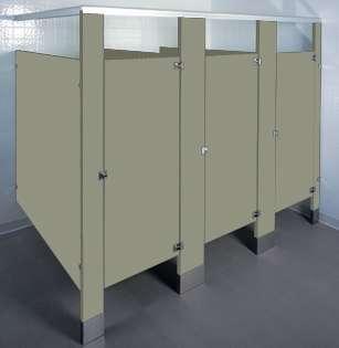 Possum Colored Bathroom Stalls