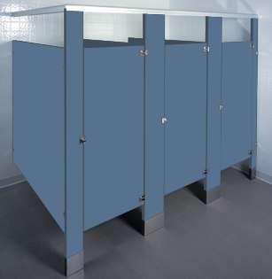 Brittany Blue Bathroom Stalls