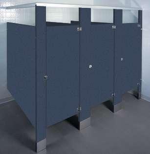 Navy Grafix Bathroom Stalls
