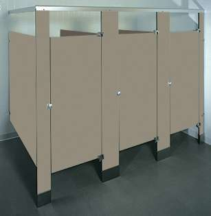 Taupe Phenolic Bathroom Stalls