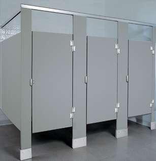 Gray Plastic Bathroom Stalls