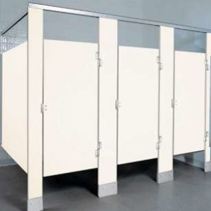 White Plastic Bathroom Stalls