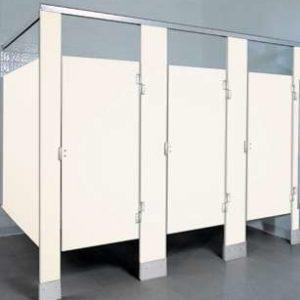 White Plastic Bathroom Stalls