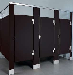 Black Plastic Bathroom Stalls