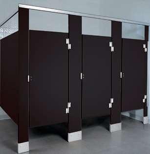 Black Plastic Bathroom Stalls
