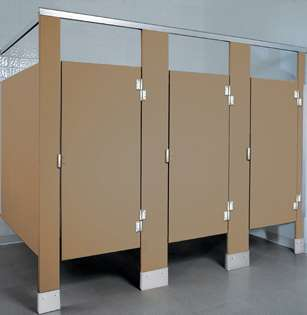 Mocha Plastic Bathroom Stalls