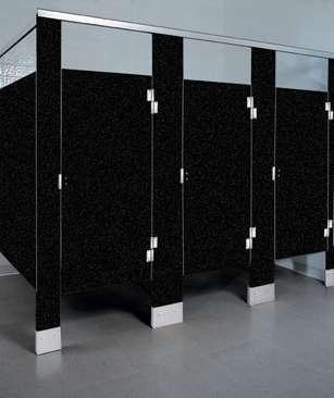 Black Confetti Plastic Bathroom Stalls
