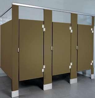 Olive Plastic Bathroom Stalls