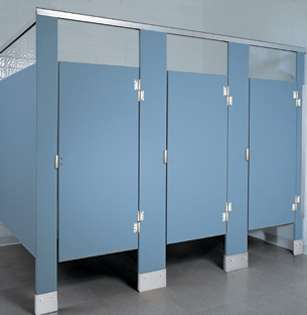 Azure Plastic Bathroom Stalls