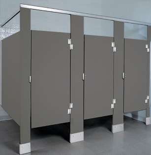 Charcoal Plastic Bathroom Stalls