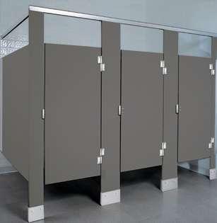 Charcoal Plastic Bathroom Stalls