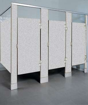 Folkstone Gray Plastic Bathroom Stalls