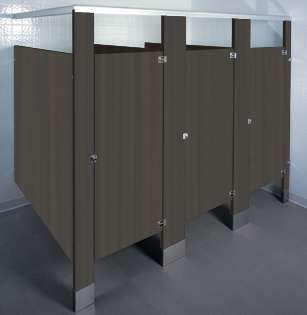 Ebony Bathroom Stalls