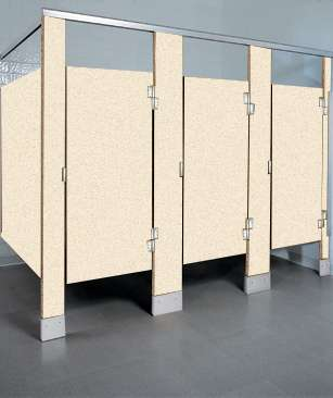 Ivory Essence Speckled Bathroom Stalls