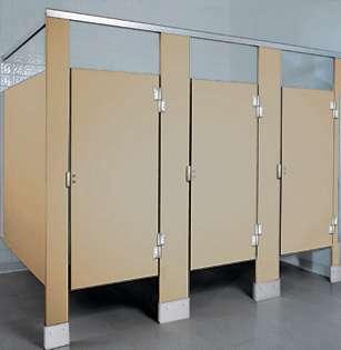 Caramel Plastic Bathroom Stalls