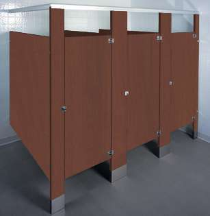 Mahogany Bathroom Stalls