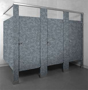 Pepper Dust Powder Coated Bathroom Stalls