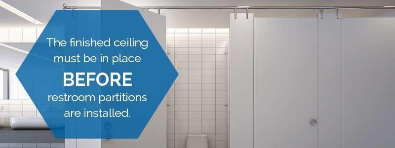 installation of restroom stalls
