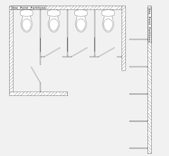 toilet partition layout