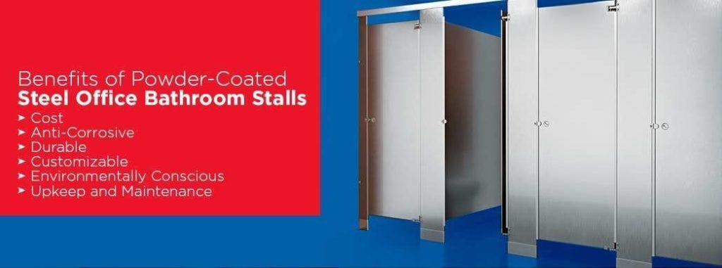 Benefits of powder-coated steel office bathroom stalls