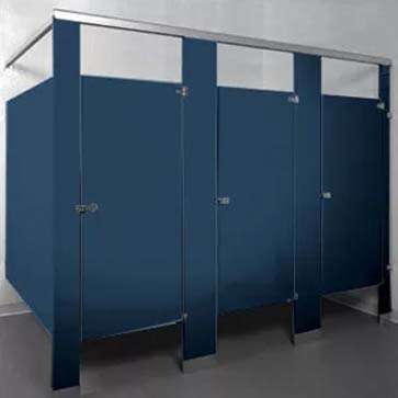 bathroom stall powder coated steel