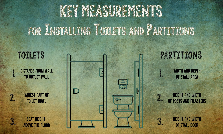 key measurements for a toilet