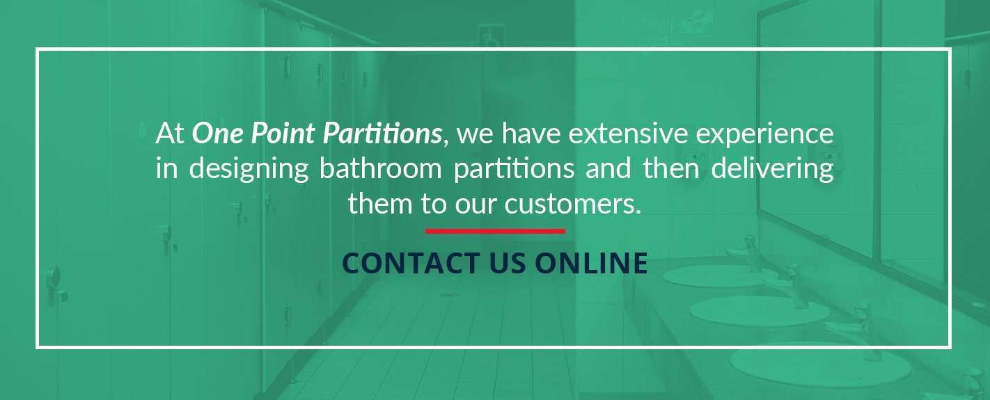 one point partitions has extensive experience designing bathroom partitions