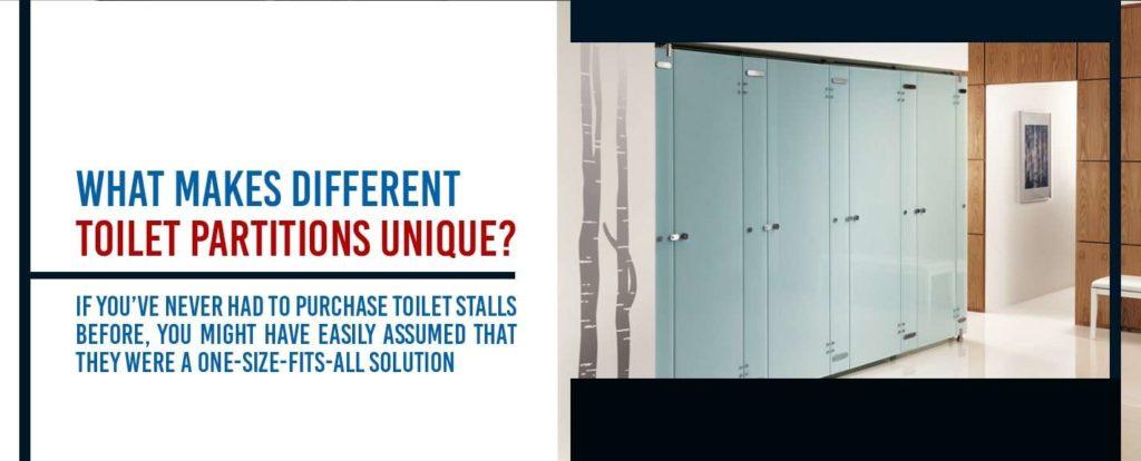 what makes toilet partitions unique