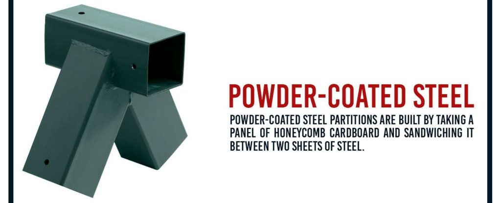 powder coated steel partitions