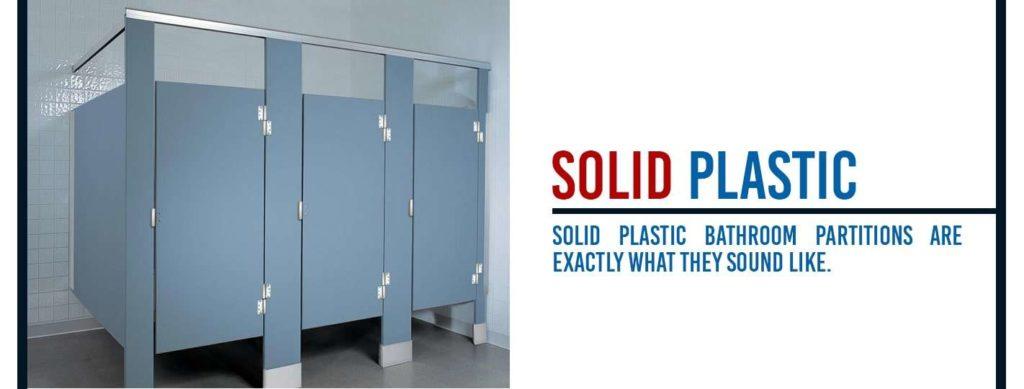 solid plastic bathroom partitions