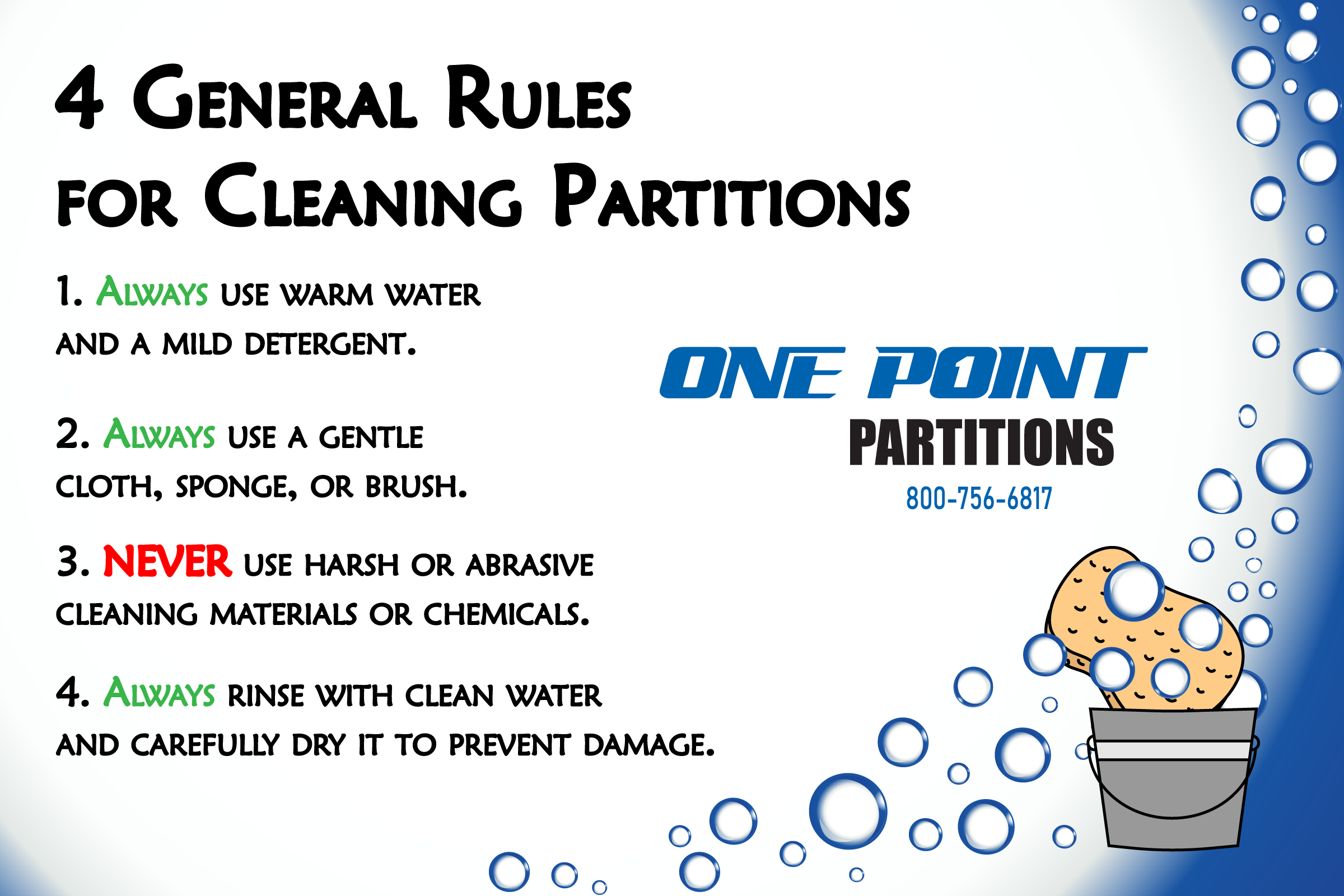 how to clean bathroom partitions