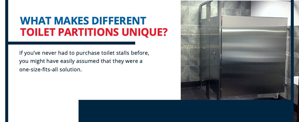 what makes different toilet partitions unique
