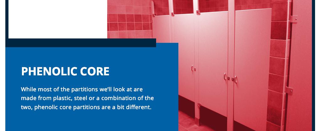 phenolic core toilet partition