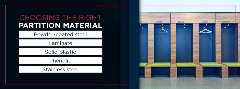 Choosing the Right Locker Room Partition Material