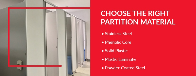 Choose the Right Restroom Partition Material